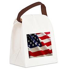 American Flag - Patriotic USA Canvas Lunch Bag