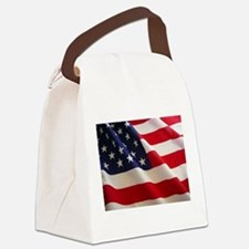 American Flag - Patriotic USA Canvas Lunch Bag
