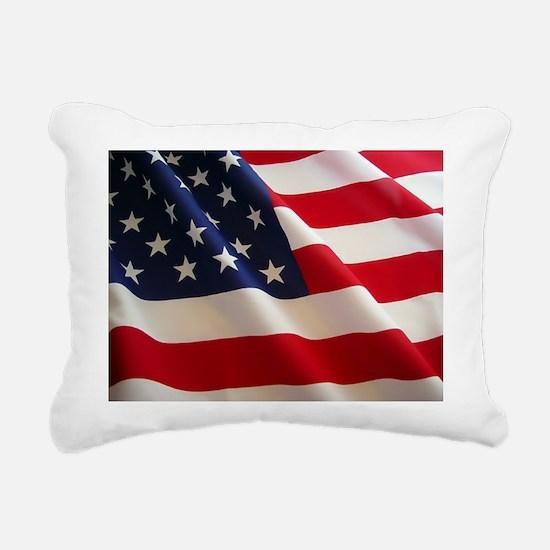 American Flag - Patriotic USA Rectangular Canvas P