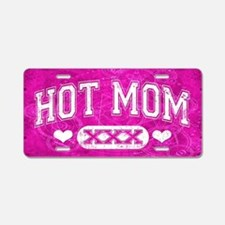 Hot Mom Pink Aluminum License Plate