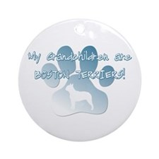 Boston Terrier Grandchildren Ornament (Round)