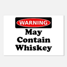 Warning May Contain Whiskey Postcards (Package of