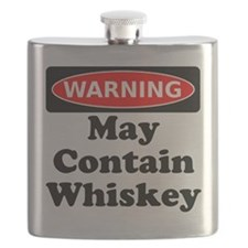 Warning May Contain Whiskey Flask