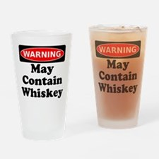 Warning May Contain Whiskey Drinking Glass