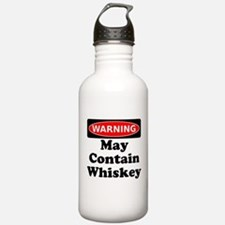 Warning May Contain Whiskey Water Bottle