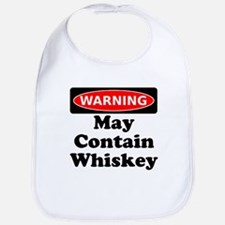 Warning May Contain Whiskey Bib