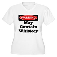 Warning May Contain Whiskey Plus Size T-Shirt