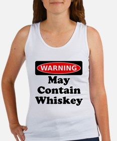 Warning May Contain Whiskey Tank Top