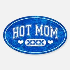 Hot Mom Blue Decal