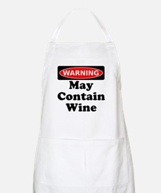 Warning May Contain Wine Apron