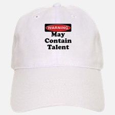Warning May Contain Talent Baseball Baseball Baseball Cap