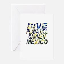 Dive Playa Del Carmen Mexico Greeting Cards (Packa