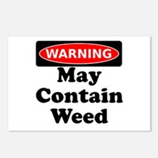 Warning May Contain Weed Postcards (Package of 8)