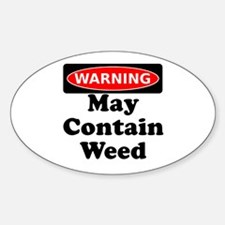 Warning May Contain Weed Decal