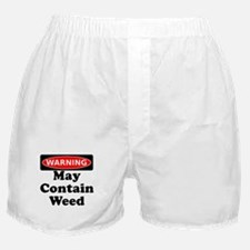 Warning May Contain Weed Boxer Shorts