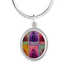 Florence Nightingale Colors Silver Oval Necklace