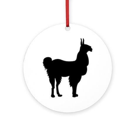 Llama Ornament (Round)