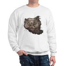 Grey Persian Cat Sweatshirt