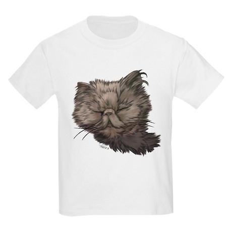 Grey Persian Cat Kids Light T-Shirt