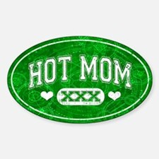Hot Mom Green Decal