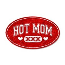 Hot Mom Red Wall Decal