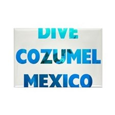 Dive Cozumel Rectangle Magnet
