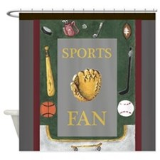 Sports Fan by Kristie Hubler with e Shower Curtain