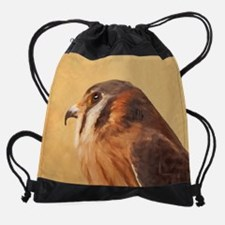 American Kestrel Drawstring Bag