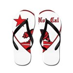 love nor cal bear red Flip Flops