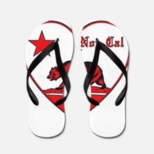 love nor cal bear red Flip Flops