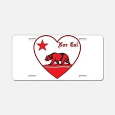 love nor cal bear red Aluminum License Plate
