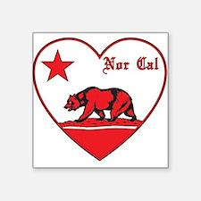 love nor cal bear red Sticker