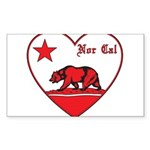 love nor cal bear red Sticker