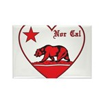 love nor cal bear red Rectangle Magnet