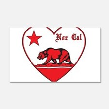 love nor cal bear red Wall Decal