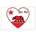 love nor cal bear red Posters