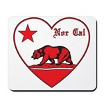 love nor cal bear red Mousepad