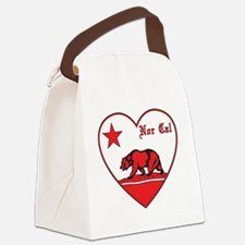 love nor cal bear red Canvas Lunch Bag