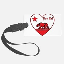 love nor cal bear red Luggage Tag