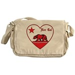 love nor cal bear red Messenger Bag