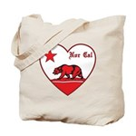 love nor cal bear red Tote Bag