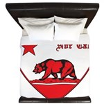 love nor cal bear red King Duvet