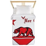 love nor cal bear red Twin Duvet