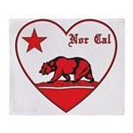 love nor cal bear red Throw Blanket