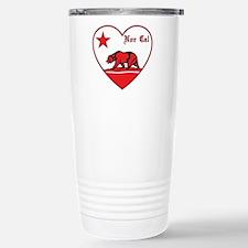 love nor cal bear red Travel Mug