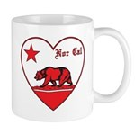 love nor cal bear red Mug