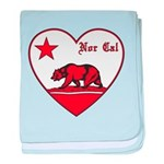 love nor cal bear red baby blanket