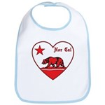 love nor cal bear red Bib