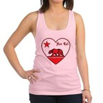 love nor cal bear red Racerback Tank Top