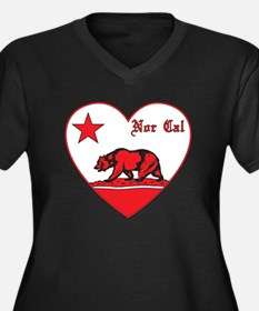 love nor cal bear red Plus Size T-Shirt